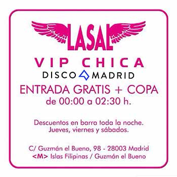 Pase VIP chica Lasal 2016